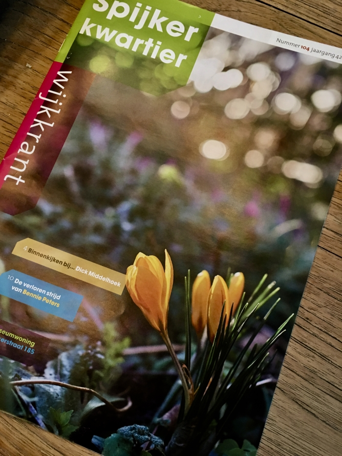 De lente-editie nr. 104 van de wijkkrant Spijkerkwartier is uit!!