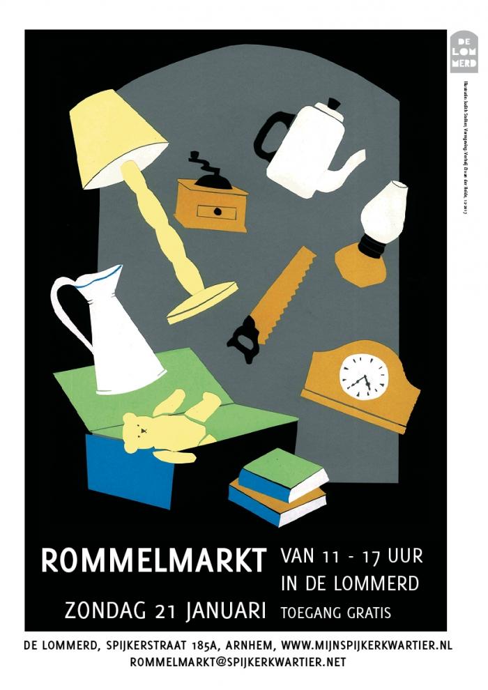 Rommelmarkt 21 januari in de Lommerd