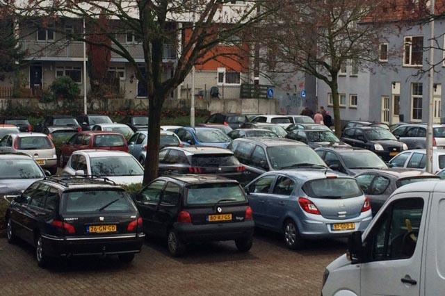 verdeling van eventueel te verdwijnen parkeerplaatsen in het Spijkerkwartier